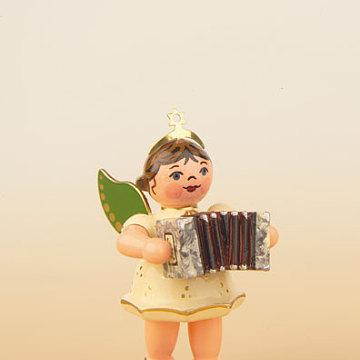 Engel mit Ziehharmonika 6,5 cm